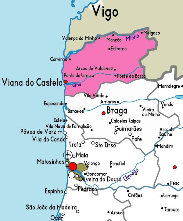 Map Of Viana Do Castelo
